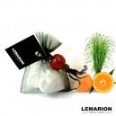 Pochon Coeurs Vetiver mandarine